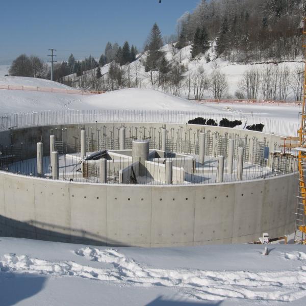 Réservoir d'eau potable à Métabief